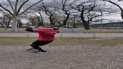 Gummiband - Tandoku renshu - Uchi komi Seitwärtsbewegung